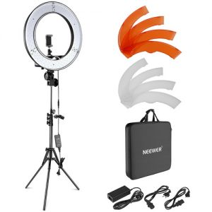 "LED Ring Light with Stand and Accessories Kit (18"")"